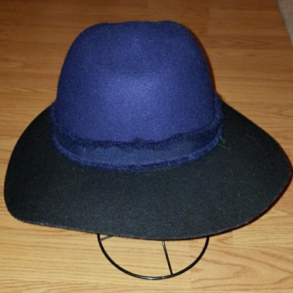 a39af1d8f zara blue and black wool hat